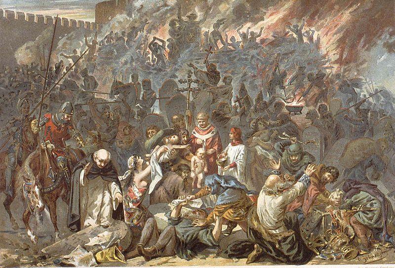 Pogrom de Strasbourg, 1349; Émile Schweitzer [Public domain or Licence Ouverte], via Wikimedia Commons