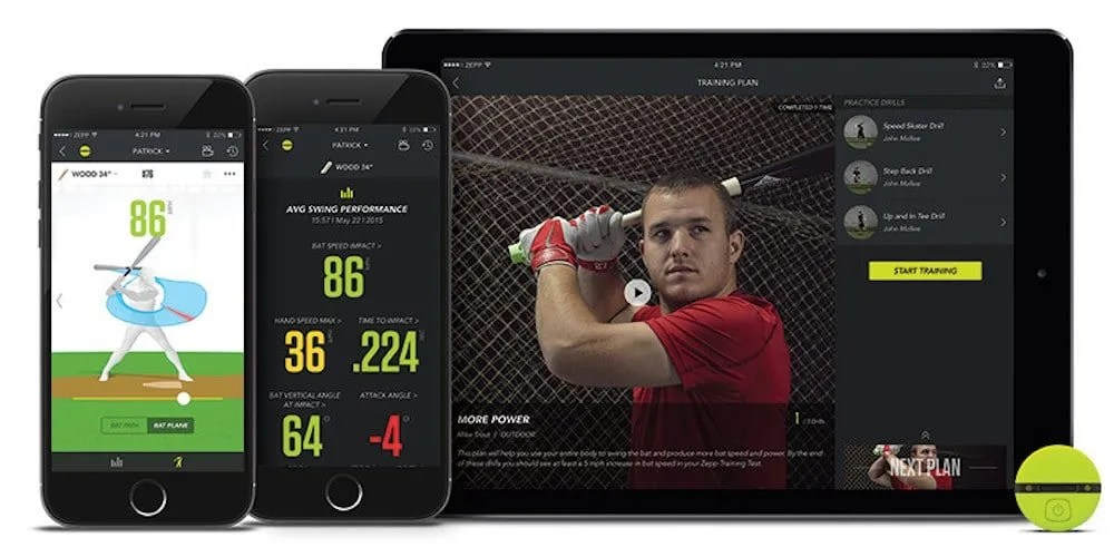 Zepp 2 Device and Baseball Smart Coach App