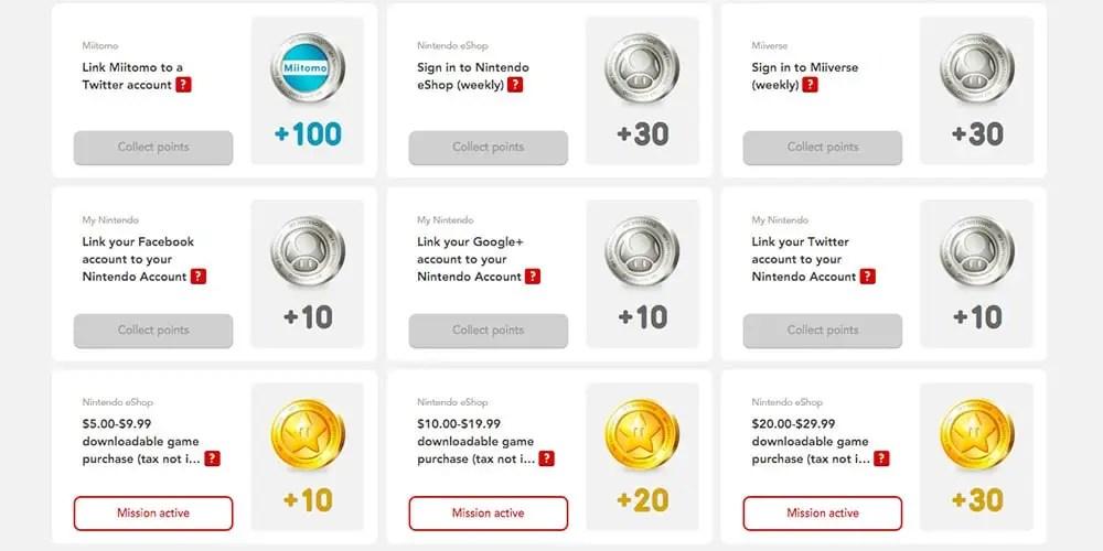 my nintendo coins
