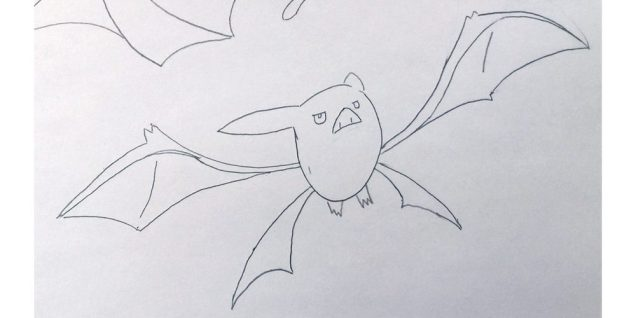 Crobat is a member of the Zubat family. I enjoyed the long subtle curves, making sharp angles where they meet. Image: Rory Bristol