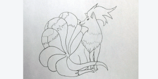 Ninetails is proof that curves are easier for me if they are in relation to a number of other details. It helps the perspective a lot. Image: Rory Bristol