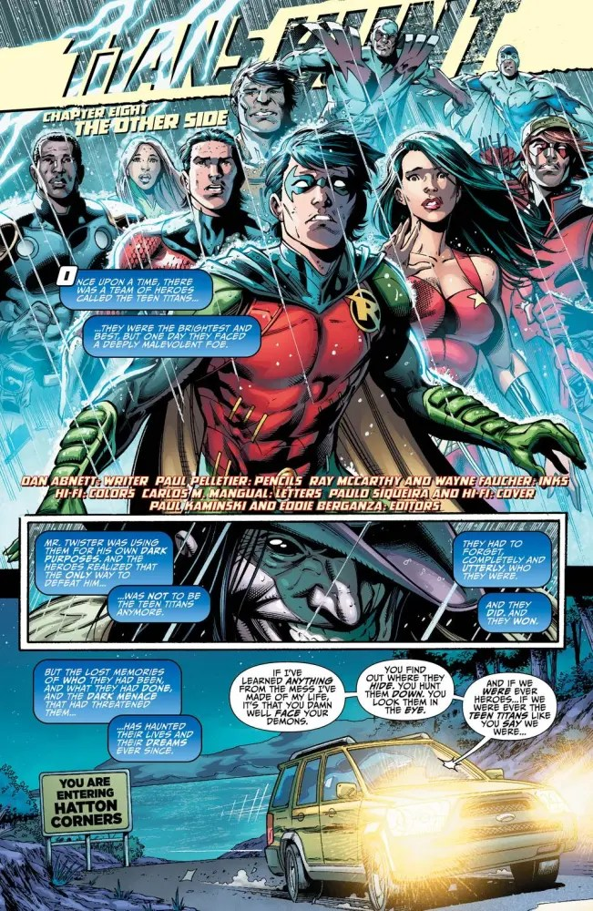 Page from Titans Hunt #8