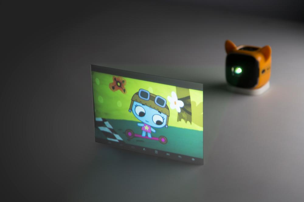 The rear projection screen. Image: CINEMOOD