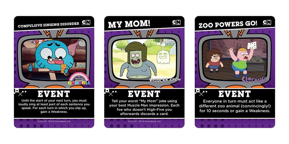 Cartoon Network Deck Building Event Cards