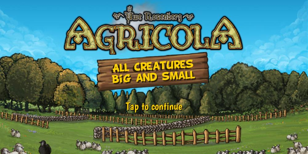 'Agricola: All Creatures Big and Small' Goes Mobile!