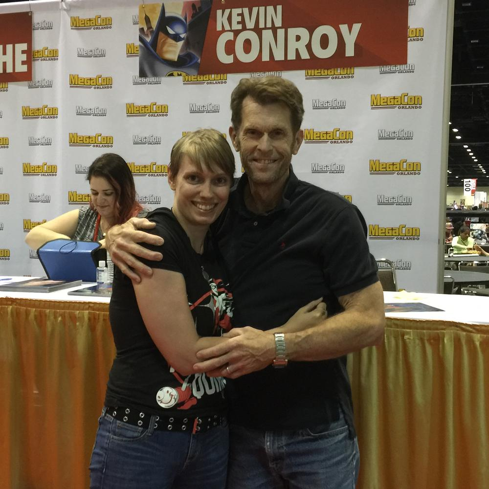 Dakster and Kevin Conroy  Image: Dakster Sullivan