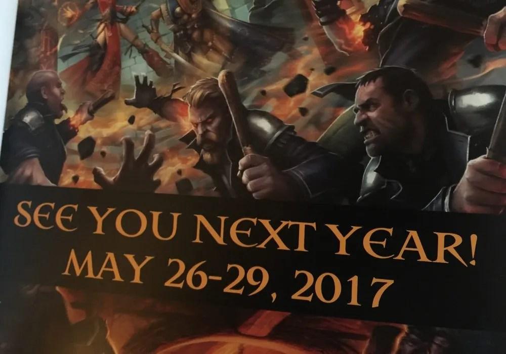 PaizoCon 2017 May 26 - 29
