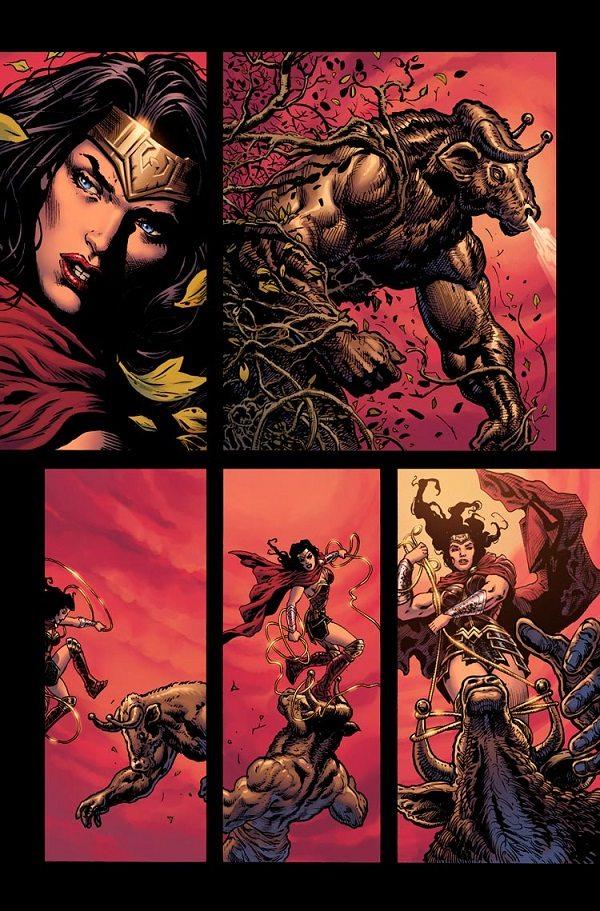 Wonder Woman #1, copyright DC Comics, art by LIam Sharp