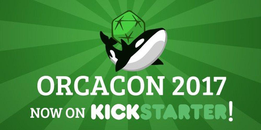 Kickstarter Alert: OrcaCon 2017