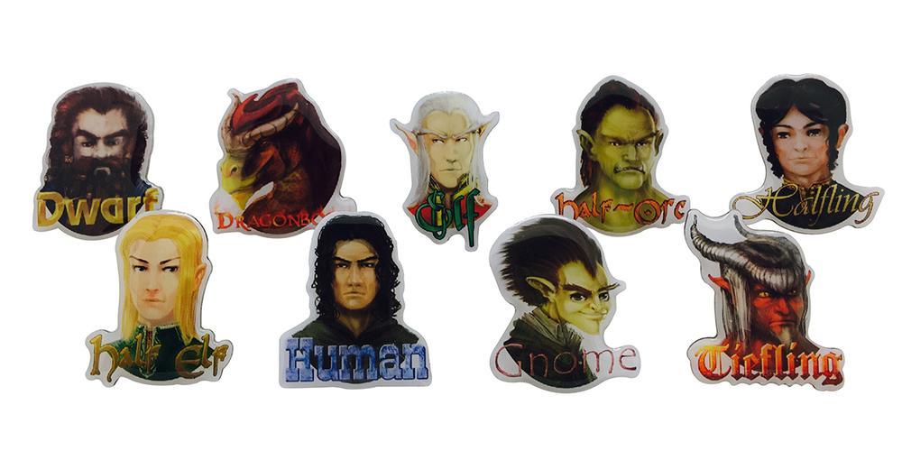 RPG race pins