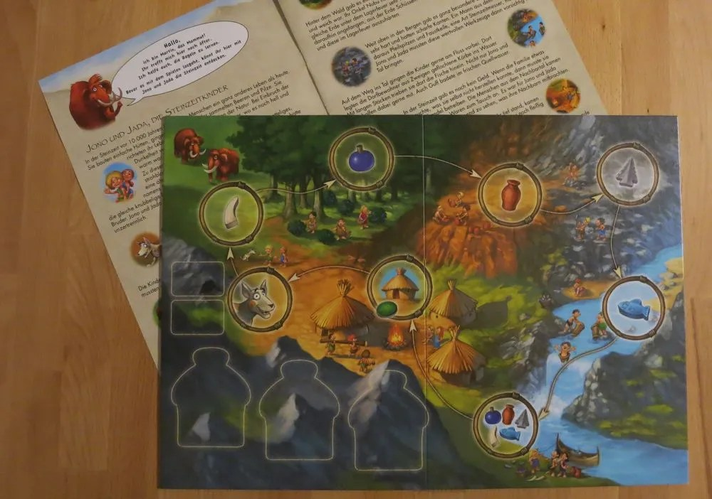 A short story introduces the players to the game board.