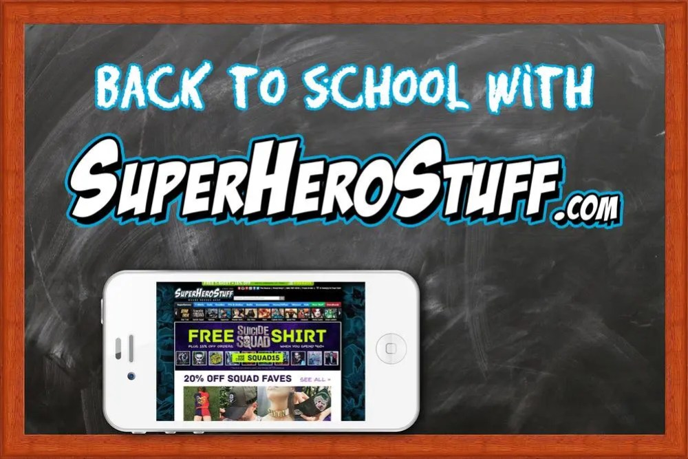 Back to school with SuperHeroStuff.com \ Image: Dakster