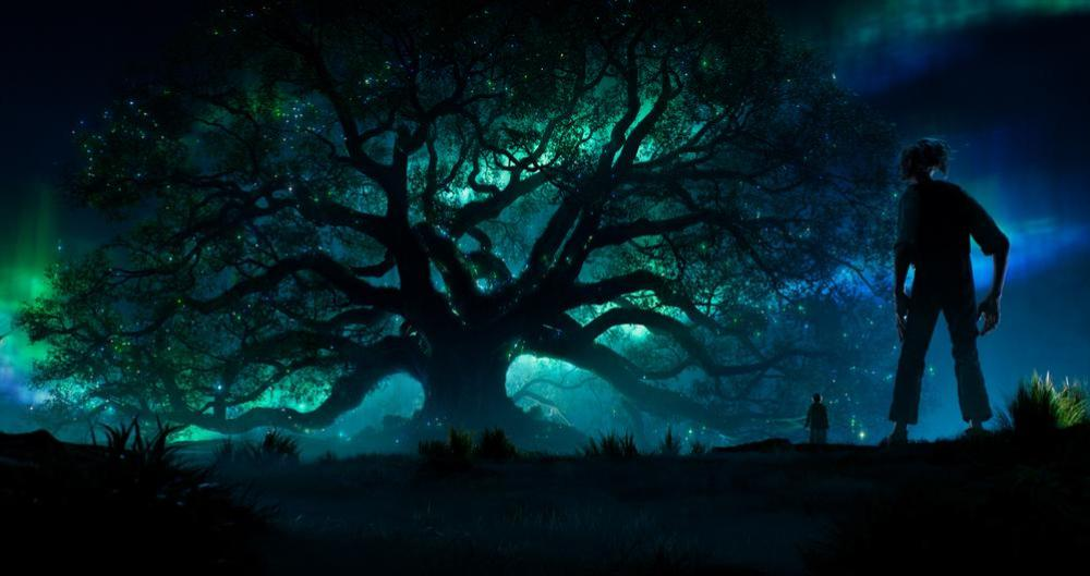 BFG (Mark Rylance) gathers dreams from the dream tree in 'The BFG'. Image © Disney