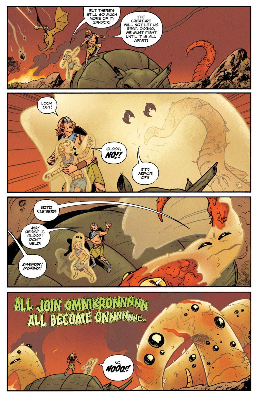 Future Quest #2's epic battle, image via DC Comics