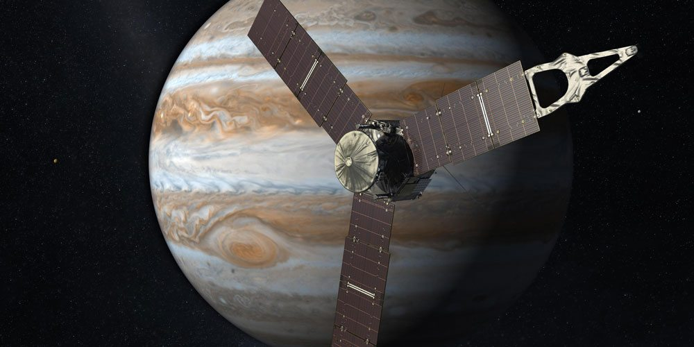 Artist's conception of Juno at Jupiter