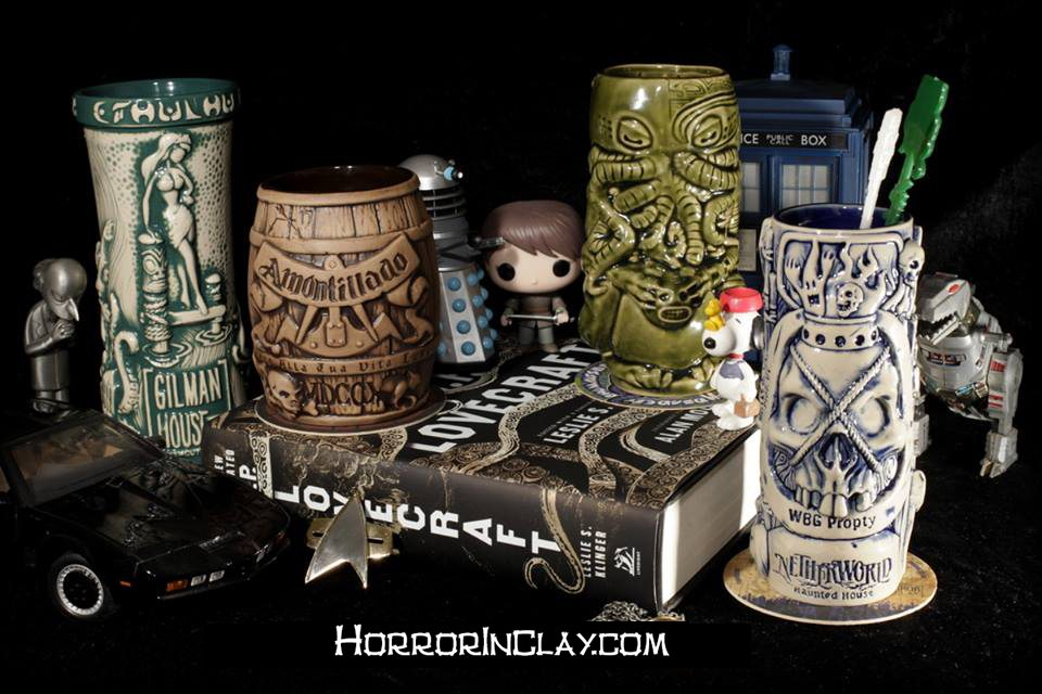 Meet Horror in Clay: Cthulhu- and Horror-Themed Tiki Mugs and Barware