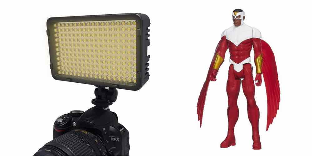 Save Big on an LED DSLR Flash, Get an Awesome Falcon Action Figure – Daily Deals!