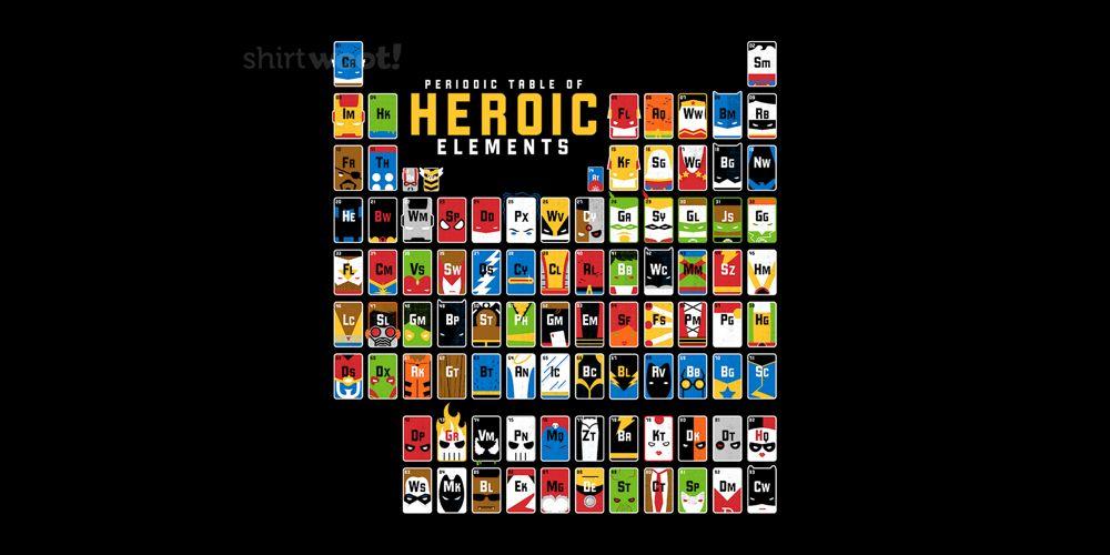 T-Shirt Alert: Heroic Elements