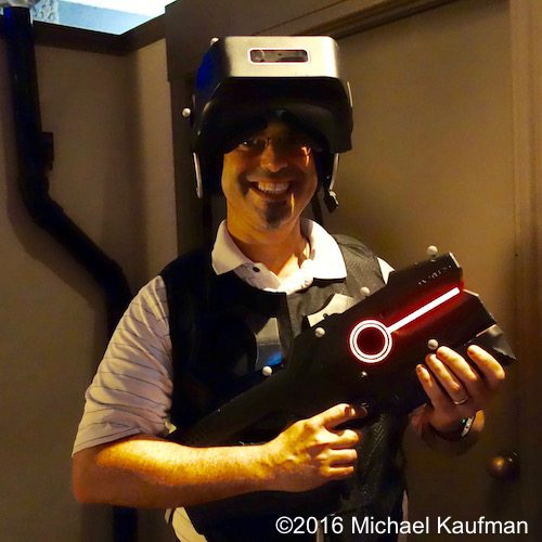 Michael Kaufman, the Architechnologist, geared up for THE VOID