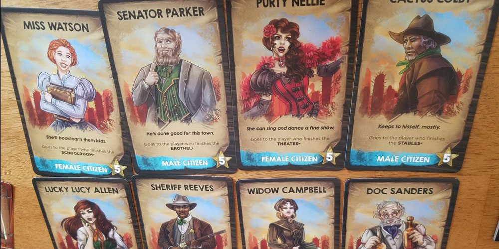 Some of the character cards in 'Saloon Tycoon'. Image by Rob Huddleston.