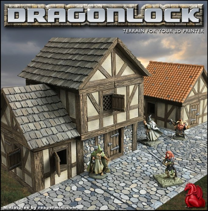 New Kickstarter – 3D Printed Buildings From Fat Dragon Games