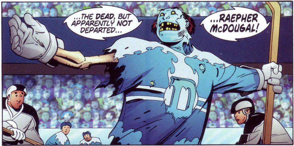 Why can't a zombie play hockey?