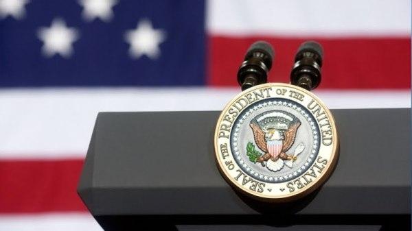 Podium for President