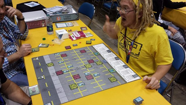 Designer Carl Sommer excitedly describes 'ZORP,' his new release from Wonky Rhino Games.