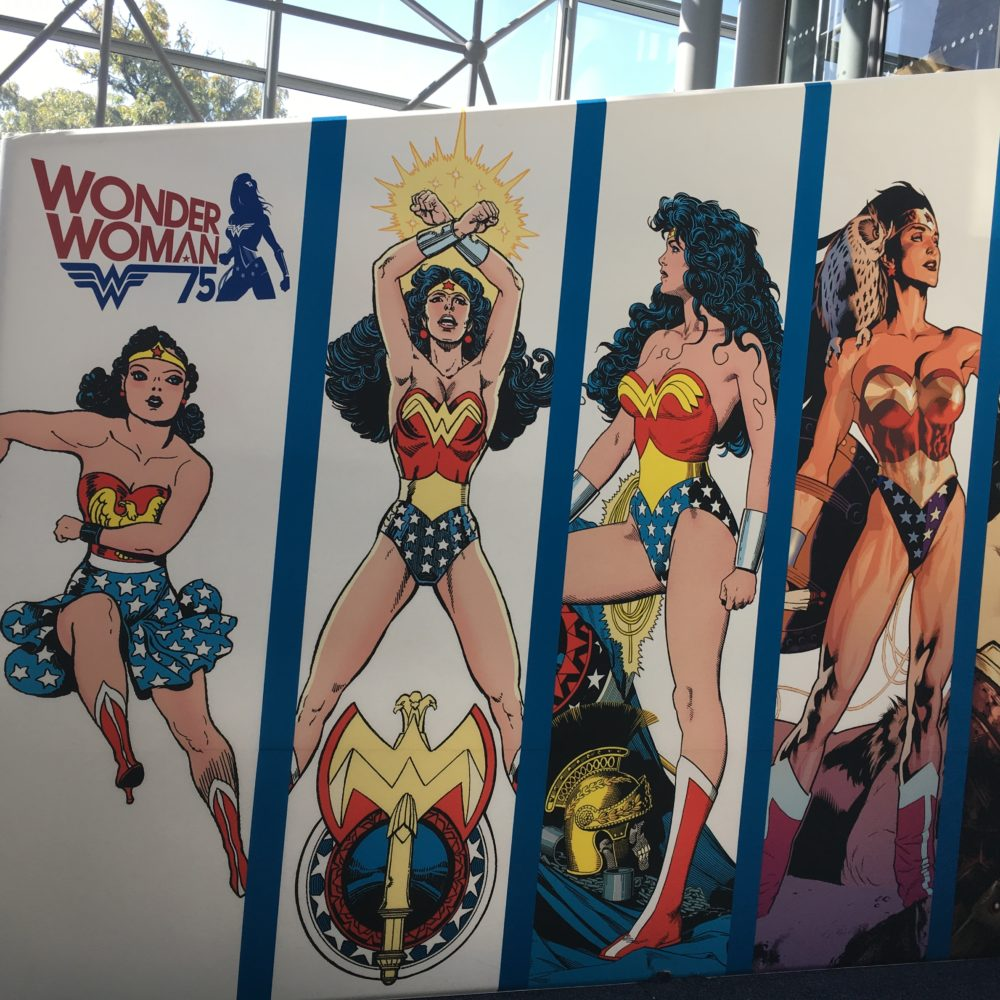 Wonder Woman headlined the DC booth at NYCC. photo by Corrina Lawson
