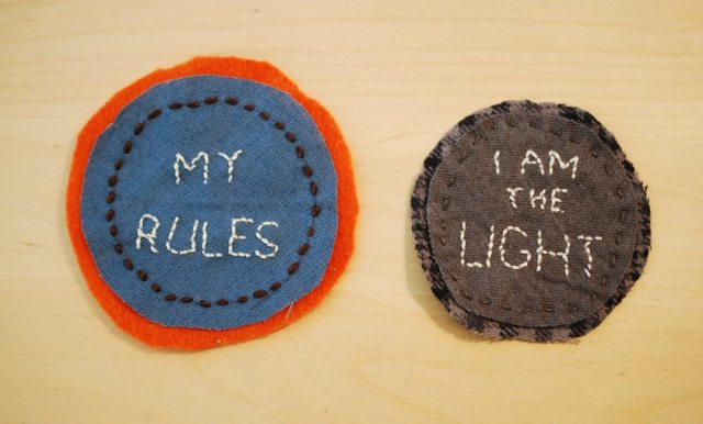 My halfway decent attempt at merit badges. Photo: Jenny Bristol