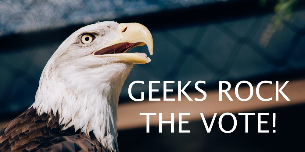Hey, Geeks: Rock the Vote, Make a Difference!
