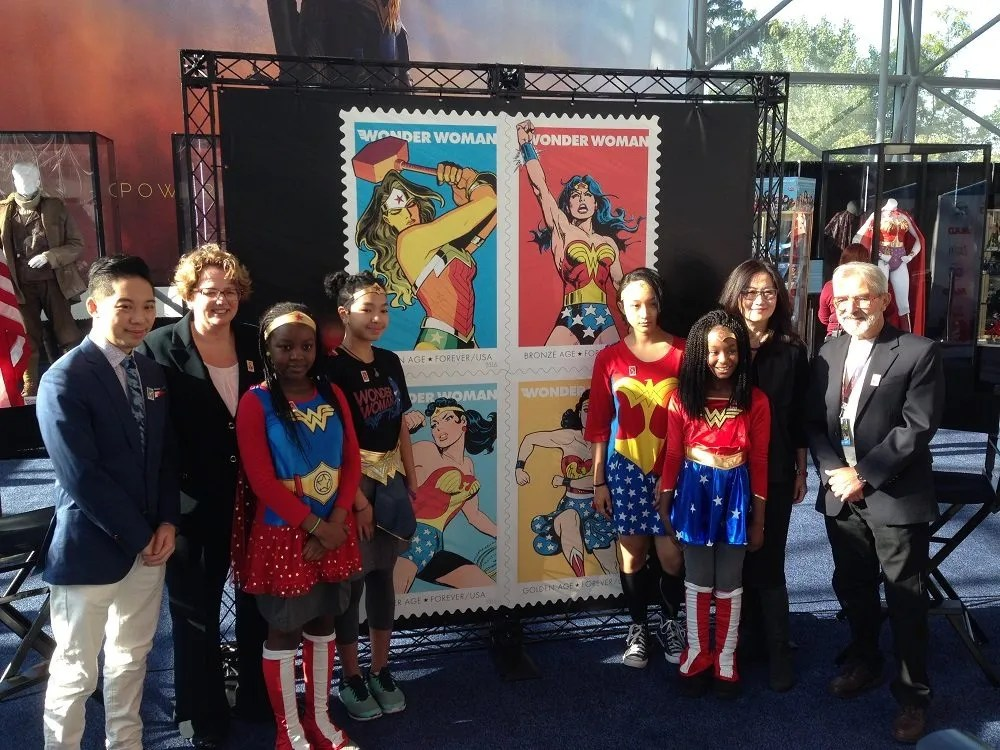 Wonder Woman stamp ceremony