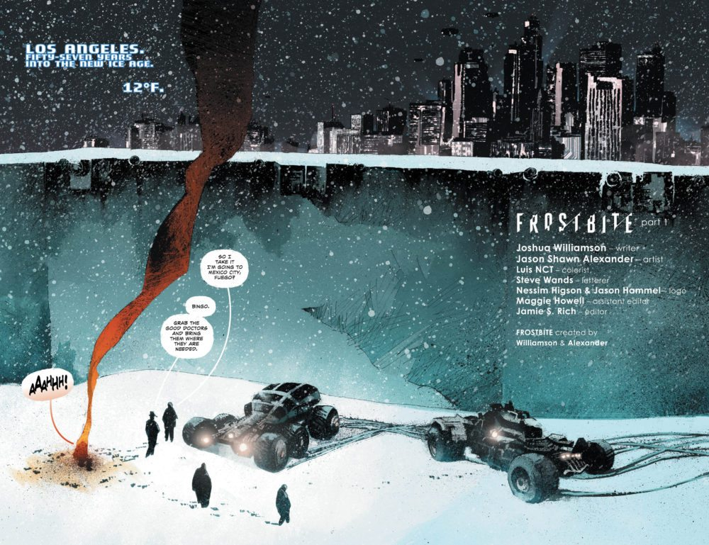 Pages from Frostbite, image via Vertigo