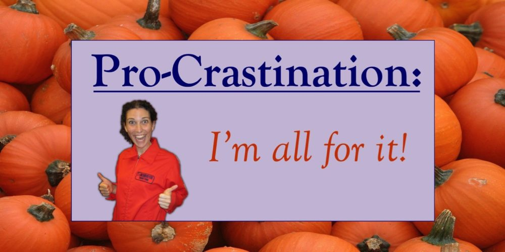 Procrastination Destination: Pumpkin Spice Edition