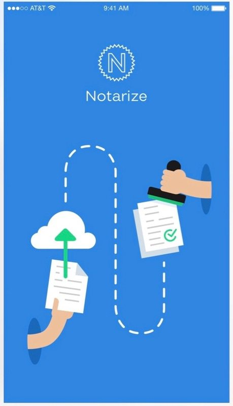 Just upload the document and the Notarize service does the rest (Image from Apple's iTunes App Store)