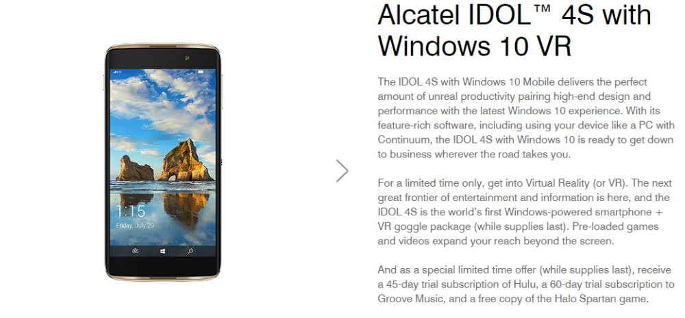T-Mobile And Alcatel Bring You The Idol 4s – Now With Windows 10