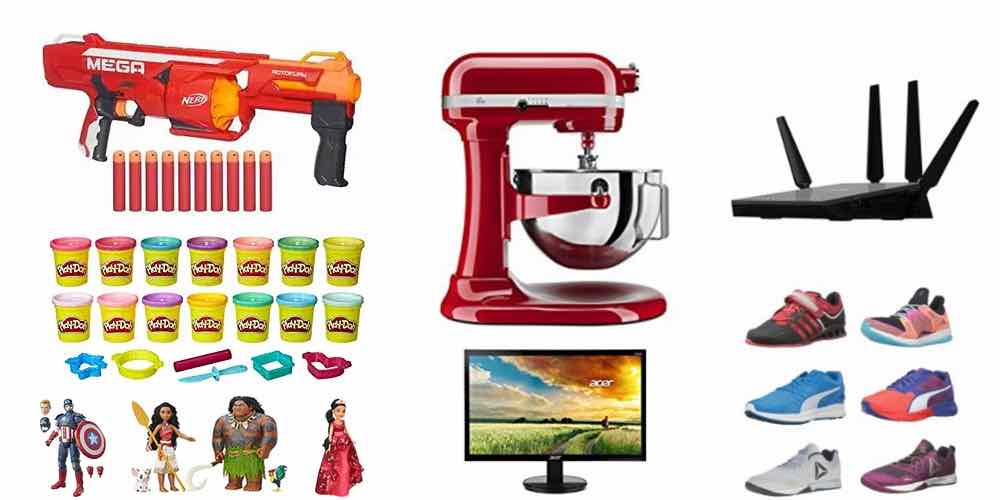 Cyber Daily Deals: Nerf, Play-Doh, Disney Figures,Hasbro Games, Kitchen Aid, Netgear, Acer, Sneakers!