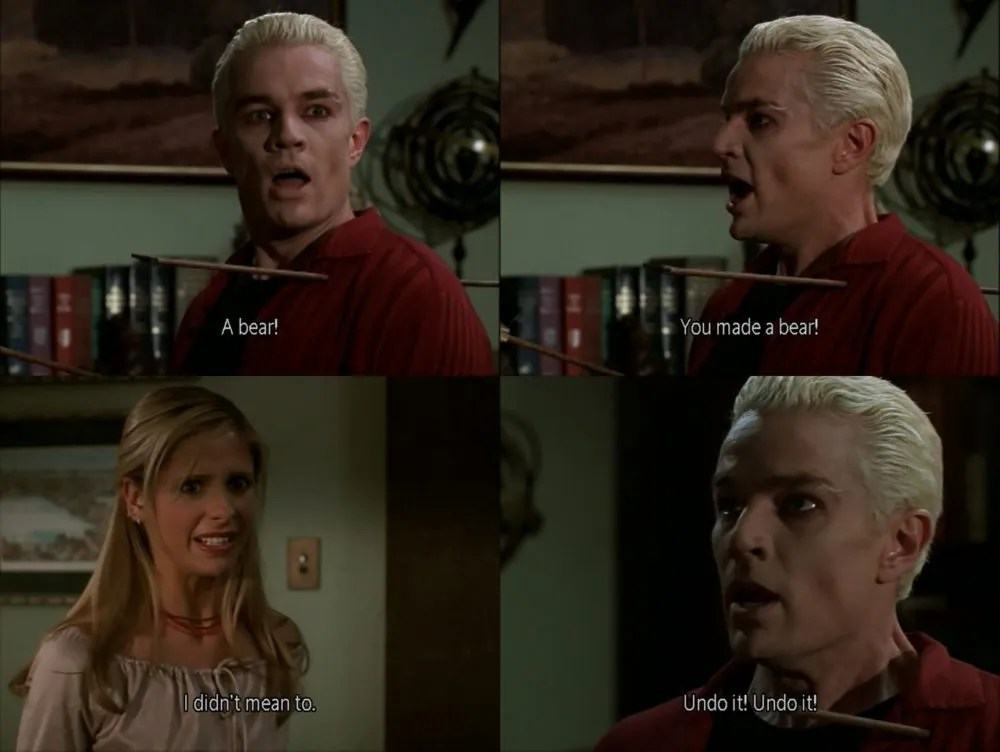 "Photo set from the episode ""Pangs"" of Buffy the Vampire Slayer."
