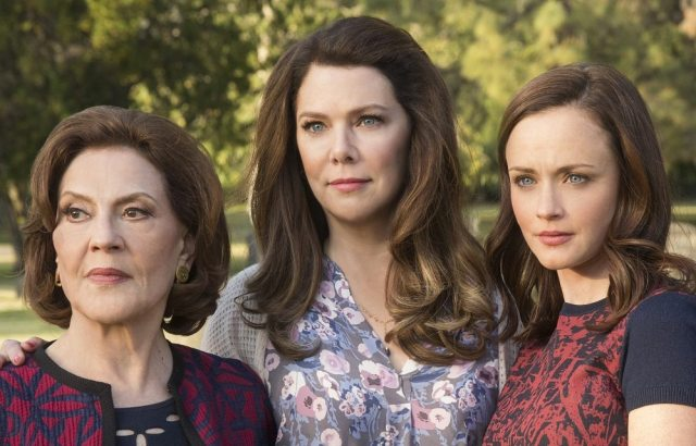 Emily, Lorelai, and Rory Gilmore in Gilmore Girls, A Year in the Life. Image (c) copyright Robert Voets/Netflix