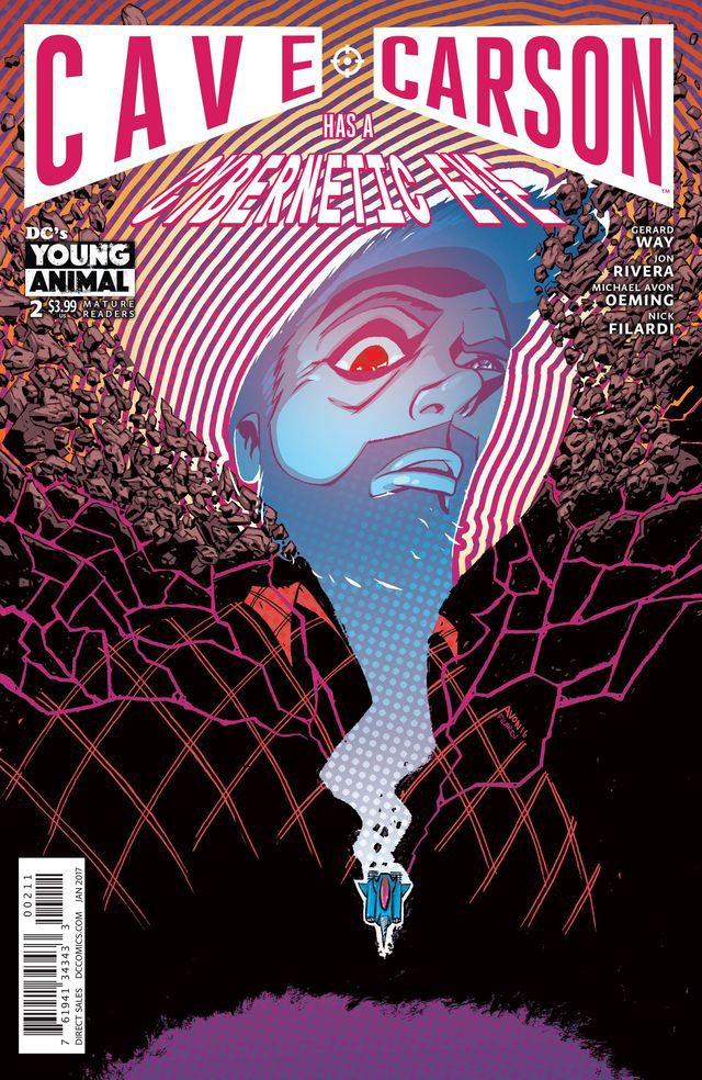 Cave Carson Has a Cybernetic Eye #2, copyright DC Comics
