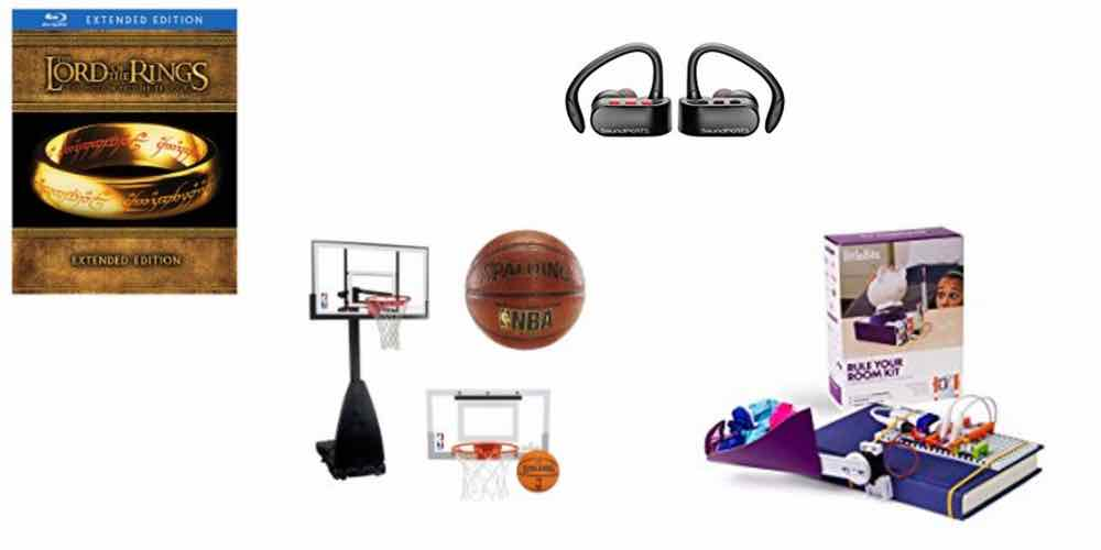 Holidaily Deals on Hobbit/LORT Movies, B-Ball Hoops, Wireless Earbuds, and littleBits Electronics Kits