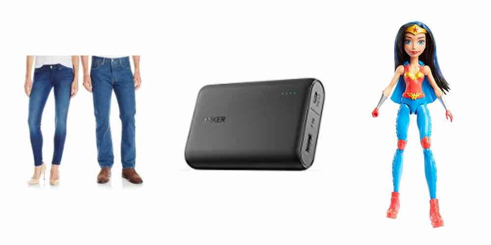 Stuff Some Stockings With Daily Deals: Levi Jeans, Anker Chargers, Wonder Woman!