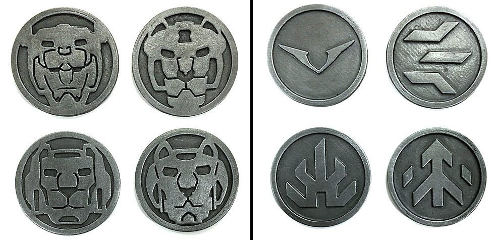 Cold Casting Voltron Coins