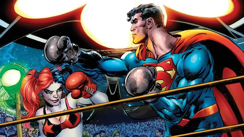 Harley Vs. Superman. Sorta! Image via DC Comics