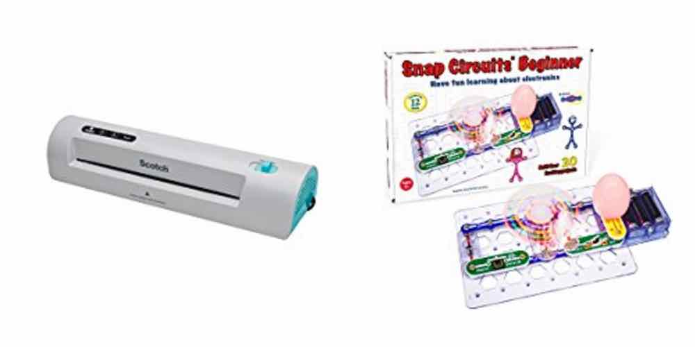 Save Big on a Laminator for Your RPG Pages, Snap Circuits Beginner Kit – Daily Deals!