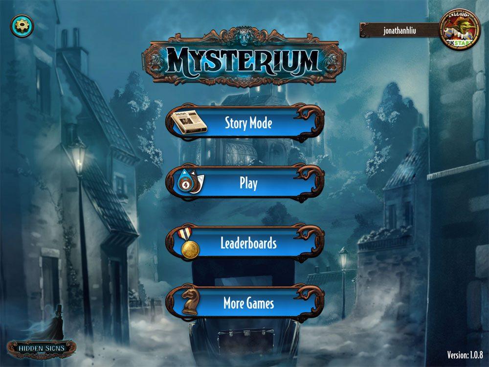 Mysterium menu