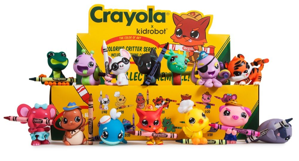 Meet Kidrobot's Crayola Coloring Critters Blind Box Mini Series [Discount Inside]!