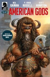 American Gods #1 cover by Glenn Fabry, copyright Dark Horse Comics