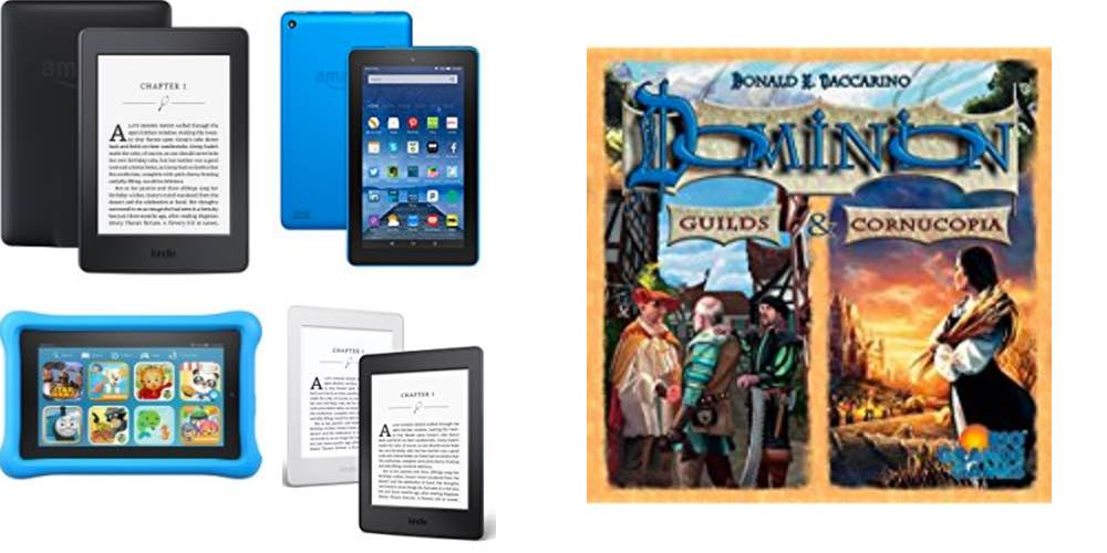 Save Big on All Models of Kindle, Pick up 'Dominion' Guilds & Cornucopia Expansions – Daily Deals!