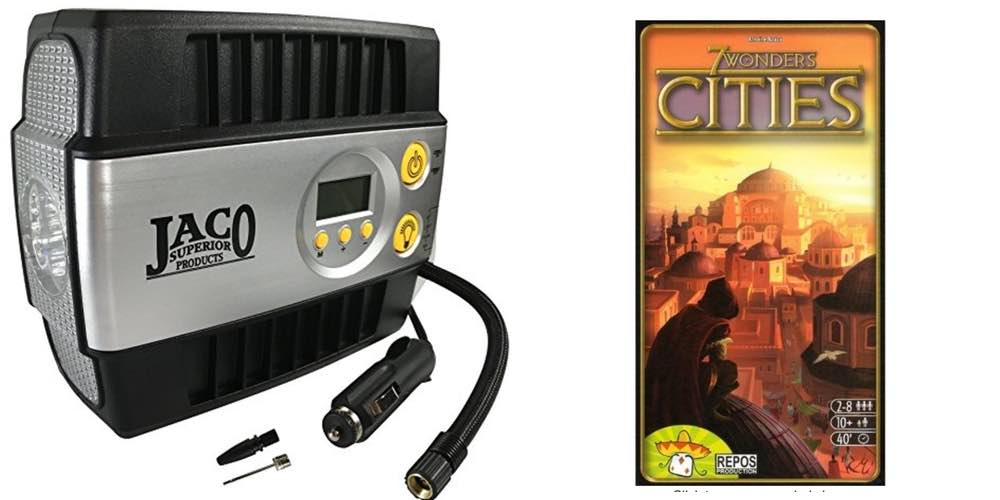 Save Big on a Digital Tire Pump, Get the '7 Wonders Cities' Game Expansion – Daily Deals!